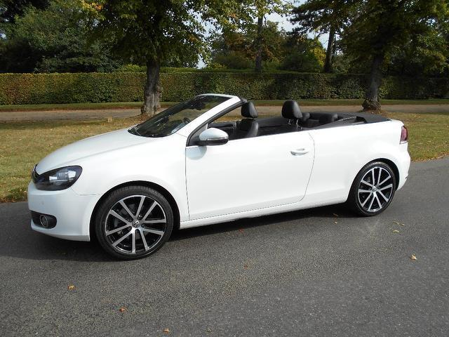 Used Volkswagen Golf 1.4 Tsi Gt 2 Door Convertible White 2012 Petrol for Sale in UK