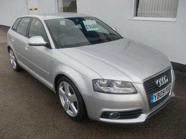 used audi a3 2009 model 2 0 tdi s line diesel hatchback silver for sale in wirral uk autopazar. Black Bedroom Furniture Sets. Home Design Ideas