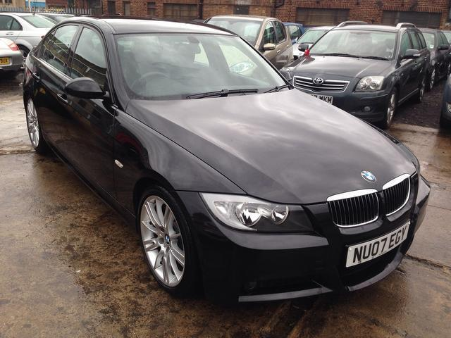 used bmw 3 series 2007 black paint petrol 320i m sport. Black Bedroom Furniture Sets. Home Design Ideas