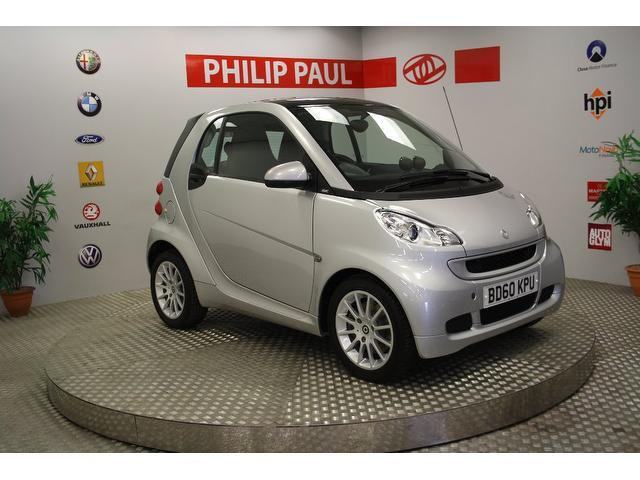 used silver smart fortwo 2010 petrol passion mhd 2dr softouch coupe in great condition for sale. Black Bedroom Furniture Sets. Home Design Ideas
