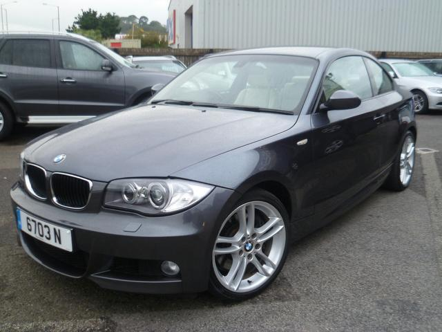 used bmw 1 series 2008 grey colour diesel 123d m sport coupe for sale in penzance uk autopazar. Black Bedroom Furniture Sets. Home Design Ideas