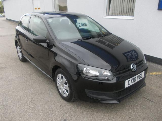 used volkswagen polo car 2010 black petrol 1 2 60 s 3 door. Black Bedroom Furniture Sets. Home Design Ideas