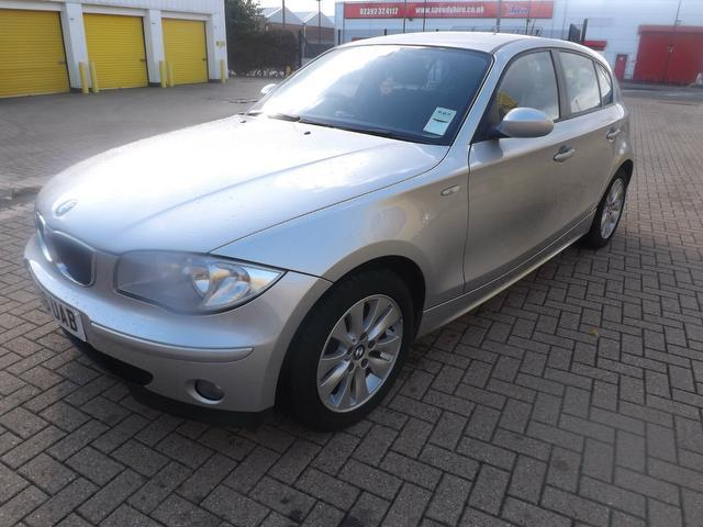 used bmw 1 series car 2006 silver diesel 118d se 5 door hatchback for sale in portsmouth uk. Black Bedroom Furniture Sets. Home Design Ideas