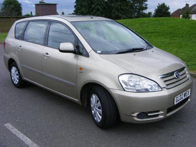 Used Toyota Avensis Verso 2.0 Vvti Gs Estate Beige 2002 Petrol for Sale in UK