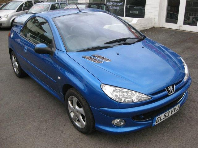 used peugeot 206 2003 petrol 1 6 allure 2dr ac convertible blue manual for sale in. Black Bedroom Furniture Sets. Home Design Ideas