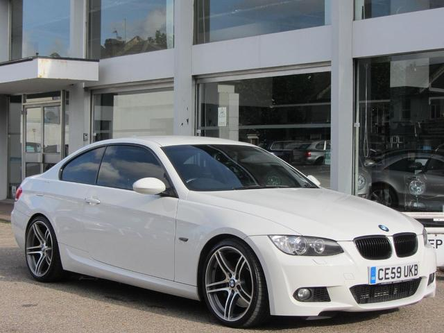 used bmw 3 series 2009 model 335i m sport petrol coupe white for sale in sevenoaks uk autopazar. Black Bedroom Furniture Sets. Home Design Ideas