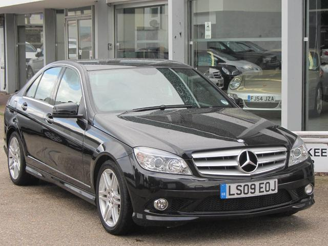 Used black mercedes benz 2009 diesel class c200 cdi sport for Used mercedes benz sale
