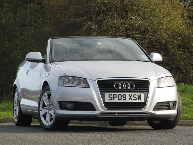 Used Audi A3 1.8 T Fsi Sport Convertible Silver 2009 Petrol for Sale in UK