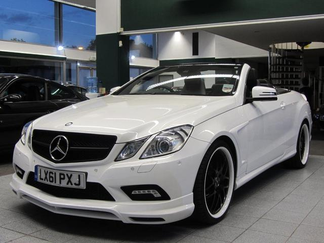 Used Mercedes Benz Class E500 Sport 2 Door Convertible White 2011 Petrol for Sale in UK