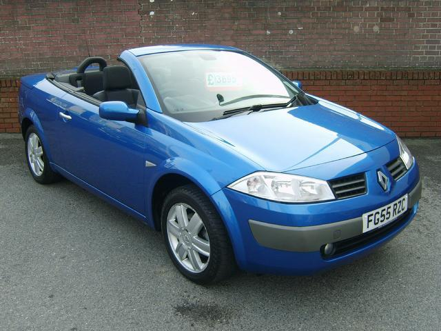 Used Renault Megane 2005 Blue Convertible Petrol Manual for Sale