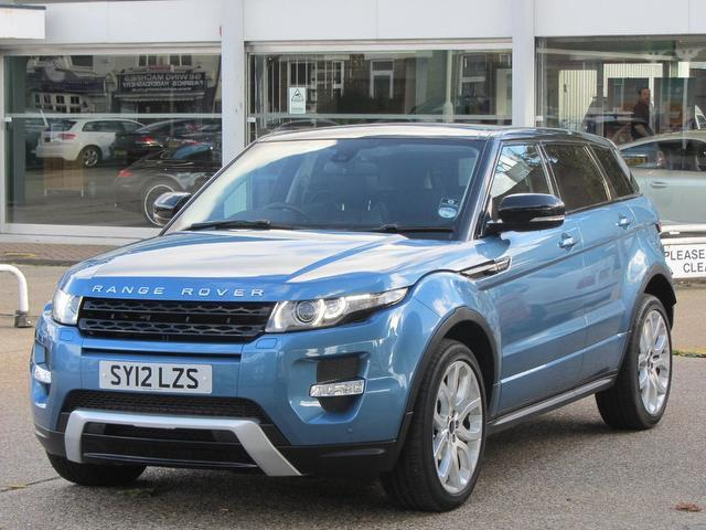 used land rover range 2012 diesel evoque 2 2 hatchback blue edition for sale in sevenoaks uk. Black Bedroom Furniture Sets. Home Design Ideas