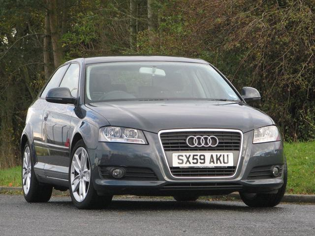 Used Audi A3 1.6 Tdi Sport 3 Door Hatchback Grey 2010 Diesel for Sale in UK