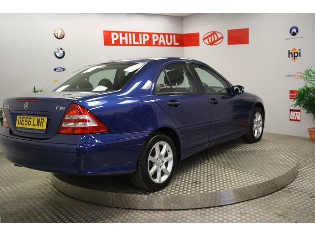 used mercedes benz 2006 blue paint diesel class c220 cdi classic saloon for sale in oswestry uk. Black Bedroom Furniture Sets. Home Design Ideas