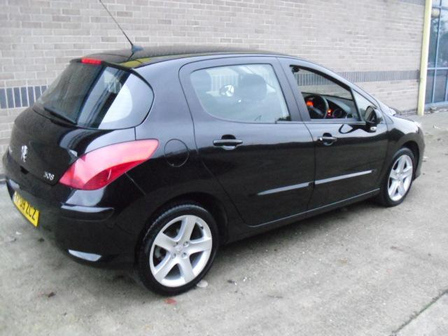 used peugeot 308 2009 manual diesel 1 6 hdi 110 sport black for sale uk autopazar. Black Bedroom Furniture Sets. Home Design Ideas