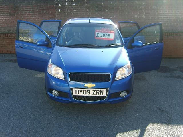Used Chevrolet Aveo 1.4 Lt 5 Door Full Hatchback Blue 2009 Petrol for Sale in UK