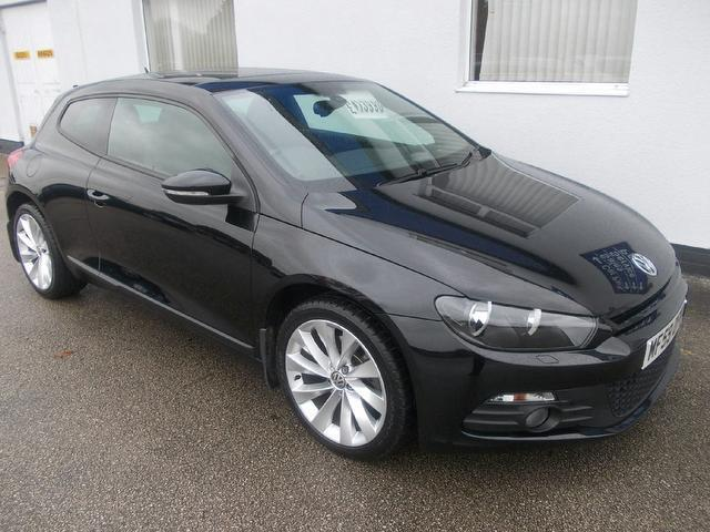 Used Volkswagen Scirocco 2009 Black Coupe Petrol Manual for Sale