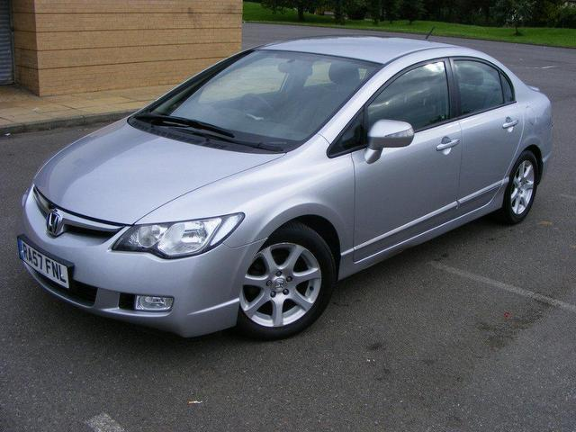 used honda civic 2008 hybrid 1 4 i dsi es 4dr saloon silver automatic for sale in wembley uk. Black Bedroom Furniture Sets. Home Design Ideas