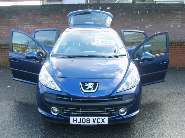Used Peugeot 207 1.4 Vti Sport [95] Hatchback Blue 2008 Petrol for Sale in UK