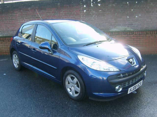 Used Peugeot 207 2008 Blue Hatchback Petrol Manual for Sale
