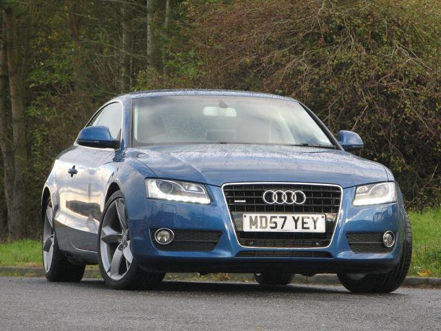 used audi a5 2008 diesel 3 0 tdi quattro sport coupe blue. Black Bedroom Furniture Sets. Home Design Ideas