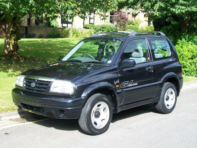 used suzuki grand 2002 petrol vitara 1 6 16v se 4x4 black. Black Bedroom Furniture Sets. Home Design Ideas