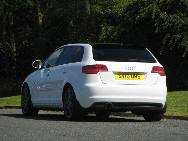 Audi White A3 With