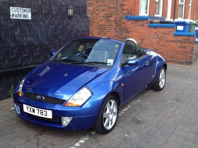 used ford streetka 2004 petrol luxury 2dr convertible blue manual for sale in stockport uk. Black Bedroom Furniture Sets. Home Design Ideas