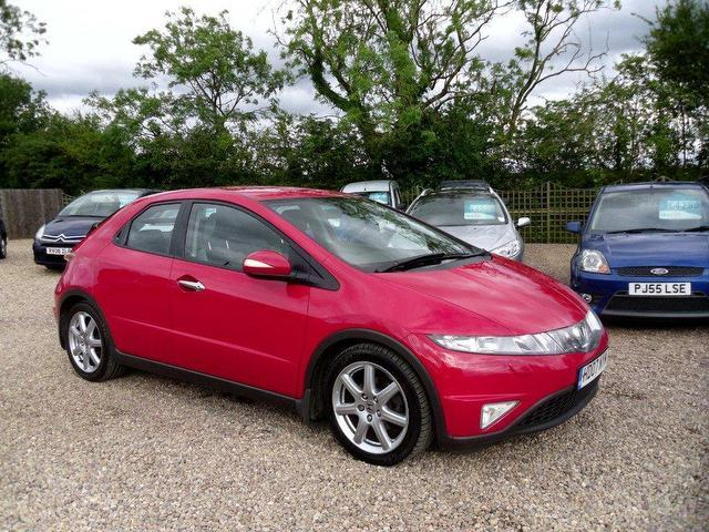 used honda civic 2007 diesel 2 2 i ctdi ex sat hatchback red manual for sale in nuneaton uk. Black Bedroom Furniture Sets. Home Design Ideas