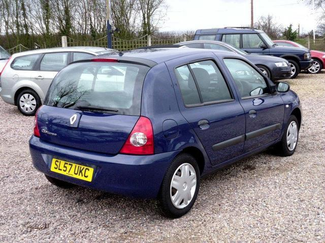 used renault clio 2007 petrol 1 2 campus 5dr hatchback blue manual for sale in nuneaton uk. Black Bedroom Furniture Sets. Home Design Ideas