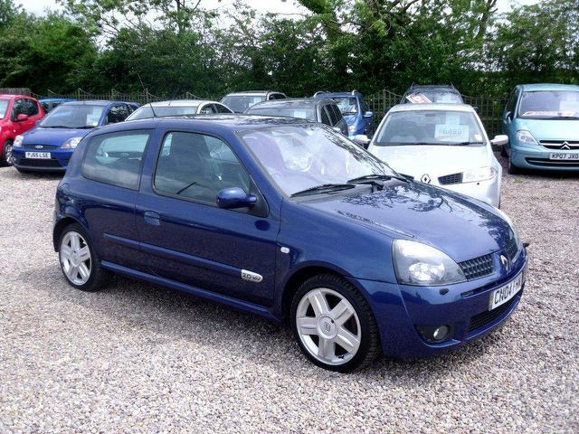 used renault clio 2004 petrol 2 0 16v renaultsport 172 hatchback blue manual for sale in. Black Bedroom Furniture Sets. Home Design Ideas