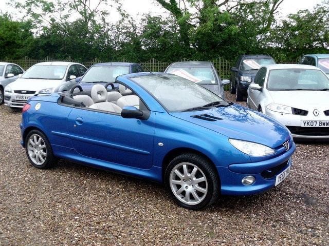 used peugeot 206 2006 petrol 1 6 allure 2dr ac convertible blue manual for sale in nuneaton uk. Black Bedroom Furniture Sets. Home Design Ideas