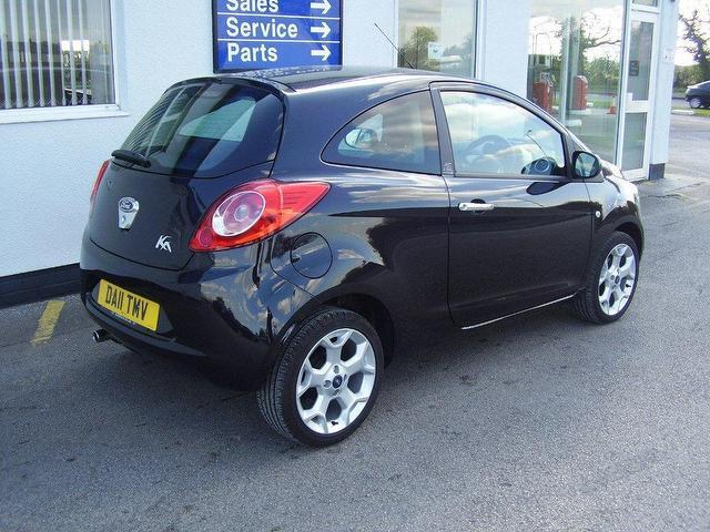 used ford ka 2011 petrol 1 2 titanium 3dr hatchback black manual for sale in wirral uk autopazar. Black Bedroom Furniture Sets. Home Design Ideas