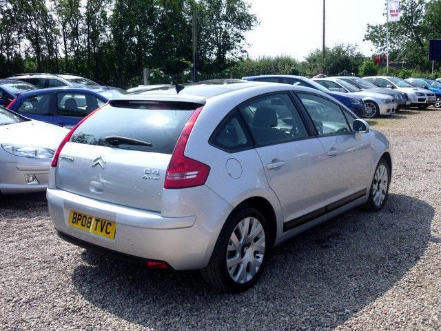 used citroen c4 2008 diesel 1 6 hdi 16v cachet hatchback silver manual for sale in nuneaton uk. Black Bedroom Furniture Sets. Home Design Ideas
