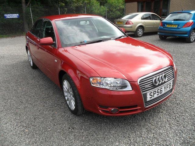 used audi a4 2006 diesel 2 0 tdi quattro 170 saloon red. Black Bedroom Furniture Sets. Home Design Ideas
