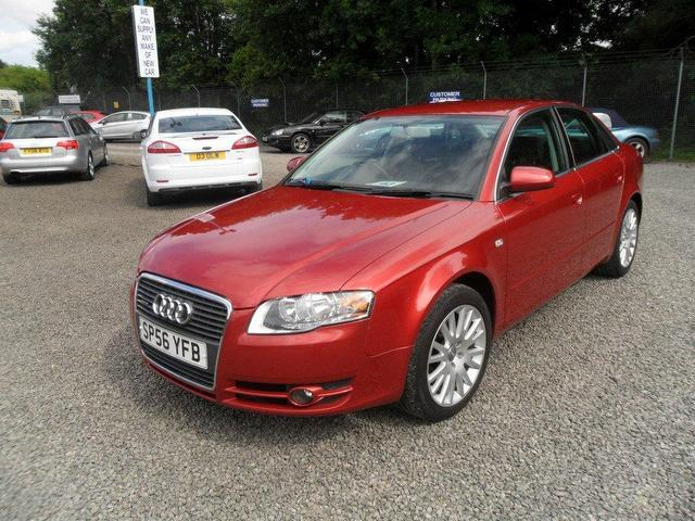 Used Audi A4 2.0 Tdi Quattro 170 Saloon Red 2006 Diesel for Sale in UK