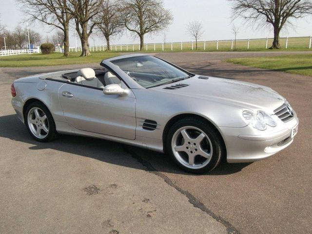used mercedes benz 2003 petrol class sl 350 2dr convertible silver automatic for sale in. Black Bedroom Furniture Sets. Home Design Ideas