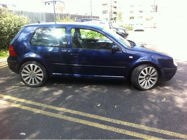 used volkswagen golf 2003 petrol 1 4 match 3dr free hatchback blue manual for sale in brentford. Black Bedroom Furniture Sets. Home Design Ideas