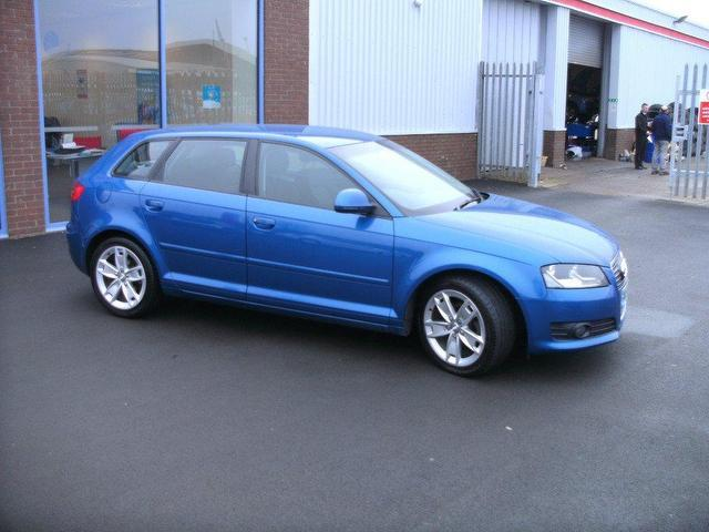 used audi a3 2008 1 9 tdi sport 5dr blue for sale in. Black Bedroom Furniture Sets. Home Design Ideas
