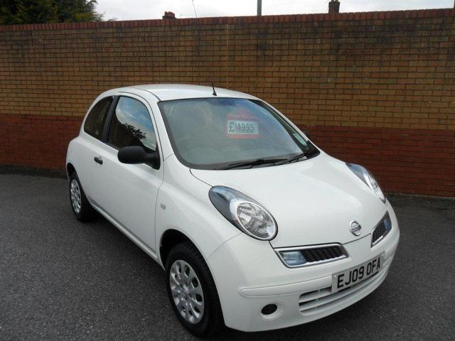 used nissan micra 2009 petrol 1 2 visia 3dr xx hatchback white manual for sale in southampton uk. Black Bedroom Furniture Sets. Home Design Ideas