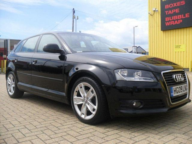 used audi a3 2009 diesel 1 9 tdie sport 5dr hatchback black manual for sale in portsmouth uk. Black Bedroom Furniture Sets. Home Design Ideas