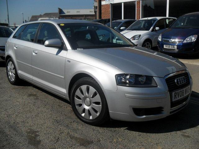 used audi a3 2008 diesel 1 9 tdi special edition hatchback silver manual for sale in portsmouth