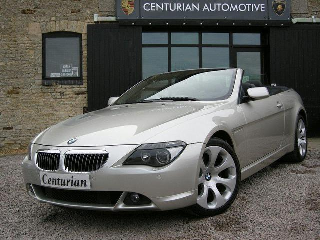 used bmw 6 series 2005 petrol 645ci 2dr full convertible silver automatic for sale in kettering. Black Bedroom Furniture Sets. Home Design Ideas