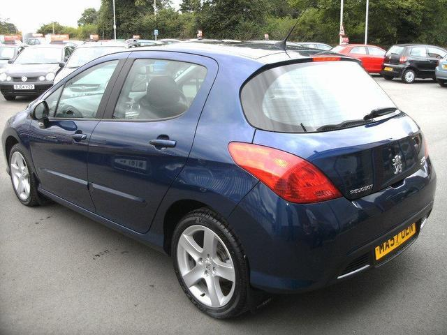used peugeot 308 2007 diesel 1 6 hdi 110 se hatchback blue. Black Bedroom Furniture Sets. Home Design Ideas