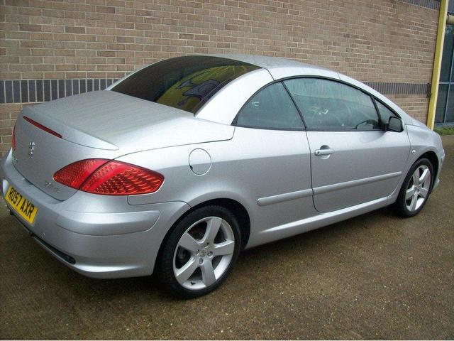 used peugeot 307 2007 petrol 2 0 sport 2dr convertible silver manual for sale in norwich uk. Black Bedroom Furniture Sets. Home Design Ideas