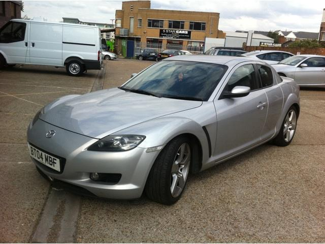 used mazda rx8 2004 petrol 4dr 192 free 2 coupe silver. Black Bedroom Furniture Sets. Home Design Ideas