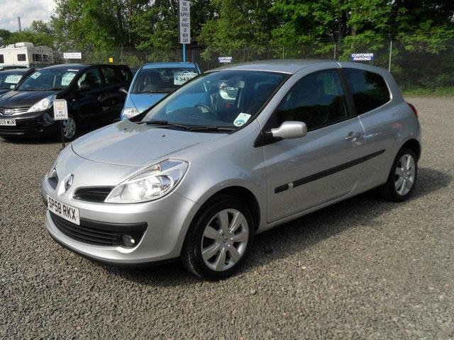 used renault clio 2008 petrol 1 2 tce dynamique s hatchback silver manual for sale in. Black Bedroom Furniture Sets. Home Design Ideas