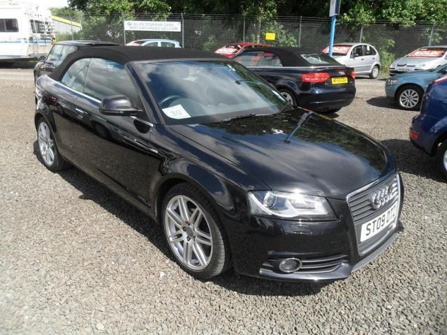 used audi a3 2009 diesel 2 0 tdi s line convertible black. Black Bedroom Furniture Sets. Home Design Ideas