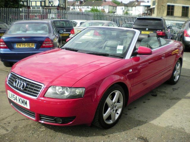 used audi a4 2004 petrol sport 2dr multitronic convertible red automatic for sale in. Black Bedroom Furniture Sets. Home Design Ideas