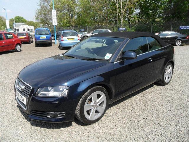 used audi a3 2008 petrol 2 0 t fsi sport convertible blue manual for sale in inveralmond place. Black Bedroom Furniture Sets. Home Design Ideas