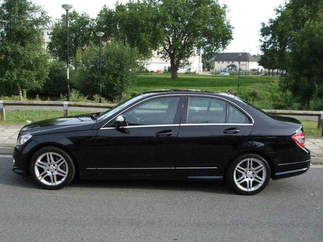 used mercedes benz 2008 diesel class c220 cdi sport saloon black manual for sale in portsmouth. Black Bedroom Furniture Sets. Home Design Ideas